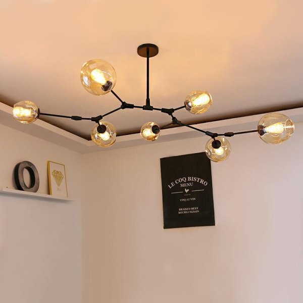 Nordic Industrial Style LED Ceiling Lights Glass Ceiling Lamp Restaurant Hanging Lamp Living Room Lamp Bedroom 4 Nordic Industrial Style LED Ceiling Lights Glass Ceiling Lamp Restaurant Hanging Lamp Living Room Lamp Bedroom Cafe