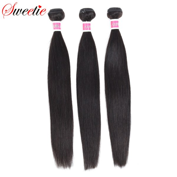 Sweetie 13X4 Ear To Ear Lace Frontal Closure With Bundles Peruvian Straight Human Hair Bundles With 1 Sweetie 13X4 Ear To Ear Lace Frontal Closure With Bundles Peruvian Straight Human Hair Bundles With Frontal Non-Remy Hair