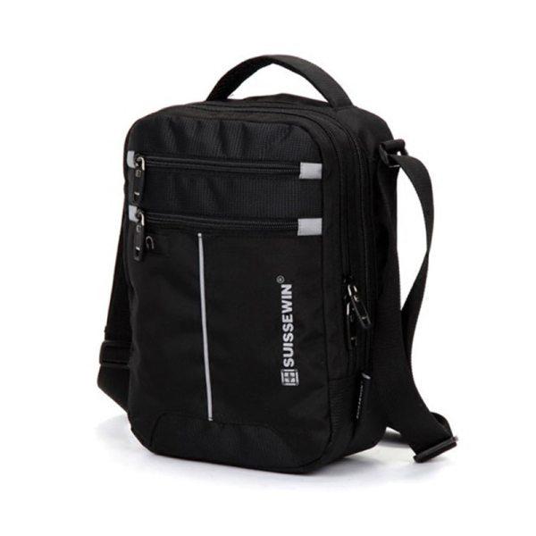 "Swiss Shoulder Bag Leisure Briefcase Small Messenger Bag for 9 7 11 Tablets and Documents Men 3 Swiss Shoulder Bag Leisure Briefcase Small Messenger Bag for 9.7"" 11""Tablets and Documents Men's Black Handbag crossbody bag"