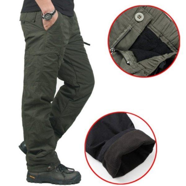 Winter Double Layer Men s Cargo Pants Warm Thick Baggy Pants Cotton Trousers For Men Male Winter Double Layer Men's Cargo Pants Warm Thick Baggy Pants Cotton Trousers For Men Male Military Camouflage Tactical