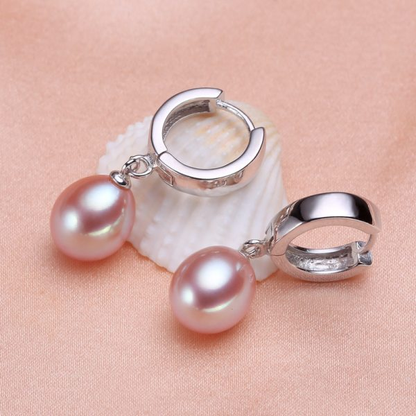 YIKALAISI 2017 100 Natural Freshwater Pearl sutd Earrings 8 9mm Pearl Jewelry 925 sterling silver jewelry 3 YIKALAISI 2017 100% Natural Freshwater Pearl sutd Earrings 8-9mm Pearl Jewelry 925 sterling silver jewelry For Women best gift