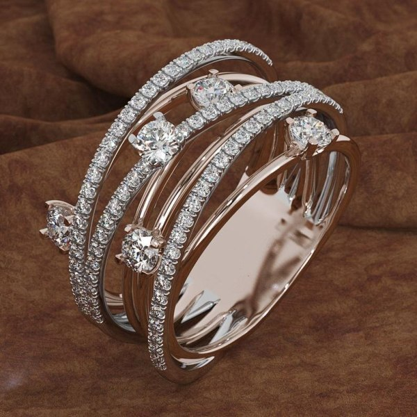 14K 3 Colors Gold Diamond Ring for Women Vintage Fashion Topaz Zircon Gemstone Bizuteria Anillos Sliver 3 14K 3 Colors Gold Diamond Ring for Women Vintage Fashion Topaz Zircon Gemstone Bizuteria Anillos Sliver Jewelry Engagement Ring