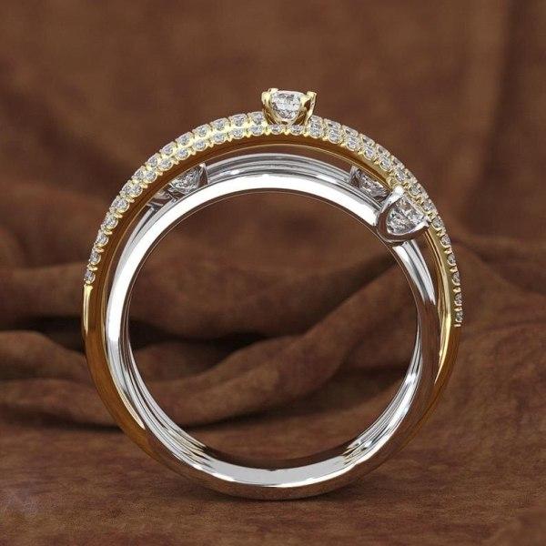 14K 3 Colors Gold Diamond Ring for Women Vintage Fashion Topaz Zircon Gemstone Bizuteria Anillos Sliver 5 14K 3 Colors Gold Diamond Ring for Women Vintage Fashion Topaz Zircon Gemstone Bizuteria Anillos Sliver Jewelry Engagement Ring