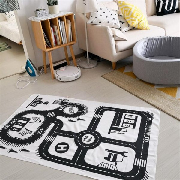Baby Play Mat Soft Crawling Rugs Car Track pattern Puzzles Learning Toy 90 140cm Nordic Style 2 Baby Play Mat Soft Crawling Rugs Car Track pattern Puzzles Learning Toy 90*140cm Nordic Style Kids Room Decoration Floor Carpet