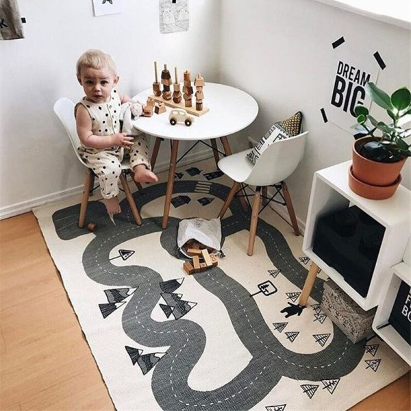 Baby Play Mat Soft Crawling Rugs Car Track pattern Puzzles Learning Toy 90 140cm Nordic Style 4 Baby Play Mat Soft Crawling Rugs Car Track pattern Puzzles Learning Toy 90*140cm Nordic Style Kids Room Decoration Floor Carpet