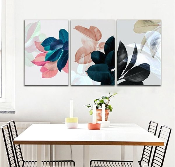 Colorful Leaves Wall Pictures for Living Room Home Decoration Nordic Plants Poster Wall Art Canvas Painting 2 Colorful Leaves Wall Pictures for Living Room Home Decoration Nordic Plants Poster Wall Art Canvas Painting Posters and Prints