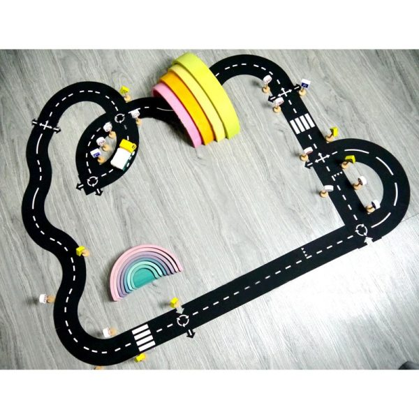 DIY PVC Puzzles Track Play Set Road Car Track Baby Puzzle Game Mat Floor Carpet Educational DIY PVC Puzzles Track Play Set Road Car Track Baby Puzzle Game Mat Floor Carpet Educational Learning Toys Nordic Kids Room Decor