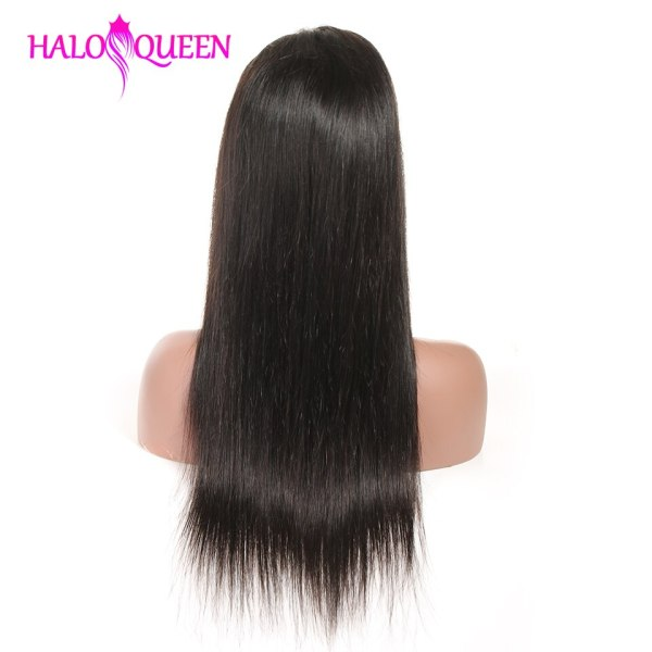 HALOQUEEN Human Hair Wigs Straight Pre Plucked Hairline Baby Hair 8 28 Inch Remy Human indian 2 HALOQUEEN Human Hair Wigs Straight Pre Plucked Hairline Baby Hair 8- 28 Inch Remy Human indian Hair Wigs 13X4 Lace Closure Wigs