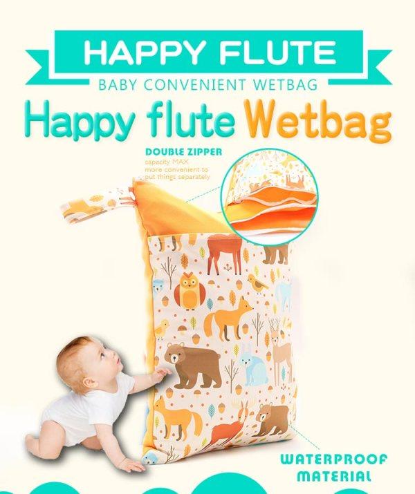 HappyFlute Baby Diaper Bags Double Zippered Wet Dry Bag Waterproof Wet Cloth Diaper Backpack Reusable Diaper 2 HappyFlute Baby Diaper Bags Double Zippered Wet/Dry Bag Waterproof Wet Cloth Diaper Backpack Reusable Diaper Cover WetBag