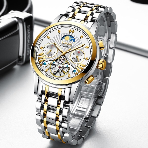 LIGE Official Store Mens Watches Top Brand Luxury Automatic Mechanical Business Clock Gold Watch Men Reloj 2 LIGE Official Store Mens Watches Top Brand Luxury Automatic Mechanical Business Clock Gold Watch Men Reloj Mecanico de Hombres