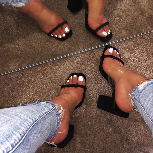 MCCKLE Women Transparent Sandals Ladies High Heel Slippers Candy Color Open Toes Thick Heel Fashion Female 1 MCCKLE Women Transparent Sandals Ladies High Heel Slippers Candy Color Open Toes Thick Heel Fashion Female Slides Summer Shoes