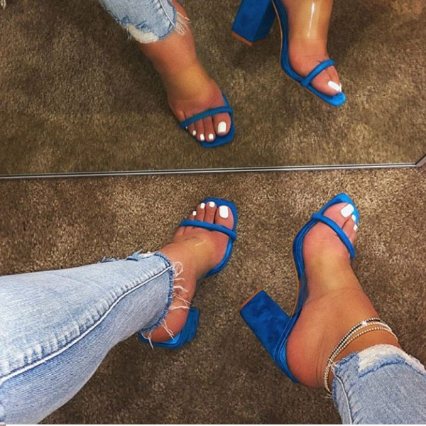 MCCKLE Women Transparent Sandals Ladies High Heel Slippers Candy Color Open Toes Thick Heel Fashion Female 2 MCCKLE Women Transparent Sandals Ladies High Heel Slippers Candy Color Open Toes Thick Heel Fashion Female Slides Summer Shoes