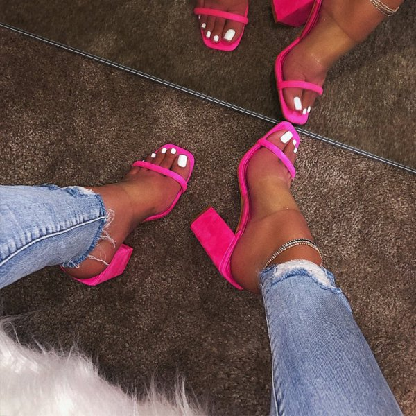 MCCKLE Women Transparent Sandals Ladies High Heel Slippers Candy Color Open Toes Thick Heel Fashion Female 3 MCCKLE Women Transparent Sandals Ladies High Heel Slippers Candy Color Open Toes Thick Heel Fashion Female Slides Summer Shoes