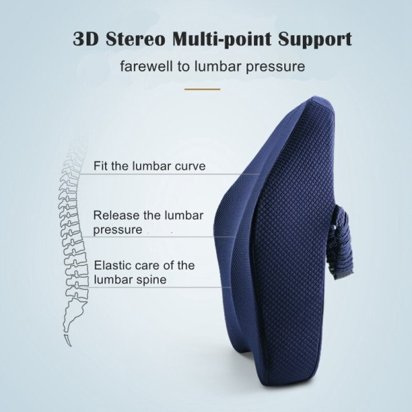 Memory Foam Lumbar Support Back Cushion Firm Pillow for Computer Office Chair Car Seat Recliner Lower Memory Foam Lumbar Support Back Cushion Firm Pillow for Computer/Office Chair Car Seat Recliner Lower Back Pain Sciatica Relief