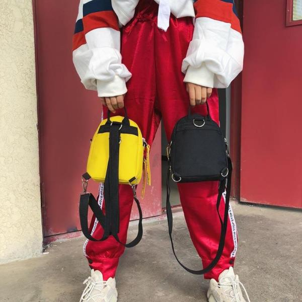 Multi Use Teenage Girls Mini Backpack Nylon Letter Print Shoulder Crossbody Bags Casual Women Backpack Mochilas 2 Multi-Use Teenage Girls Mini Backpack Nylon Letter Print Shoulder Crossbody Bags Casual Women Backpack Mochilas Mujer