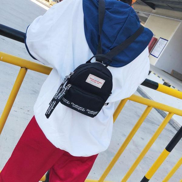 Multi Use Teenage Girls Mini Backpack Nylon Letter Print Shoulder Crossbody Bags Casual Women Backpack Mochilas Multi-Use Teenage Girls Mini Backpack Nylon Letter Print Shoulder Crossbody Bags Casual Women Backpack Mochilas Mujer