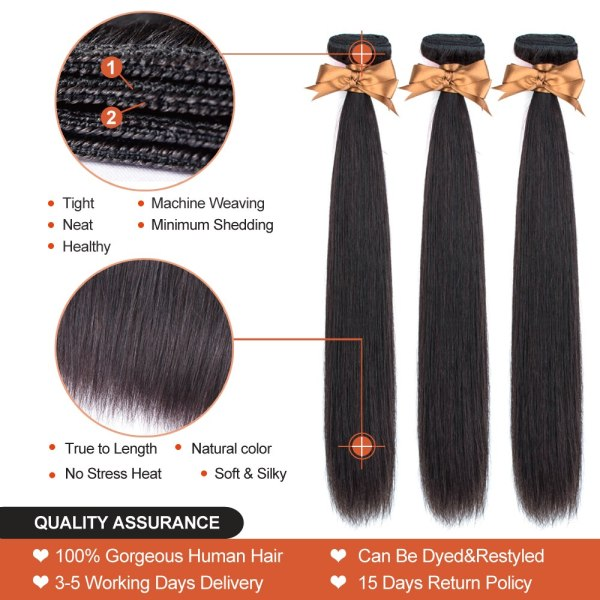 Allrun Malaysian Straight Hair Bundles With Frontal Closure 13 4 Human Hair Bundles With Closure Non 1 Allrun Malaysian Straight Hair Bundles With Frontal Closure 13*4 Human Hair Bundles With Closure Non-Remy Hair Low Ratio