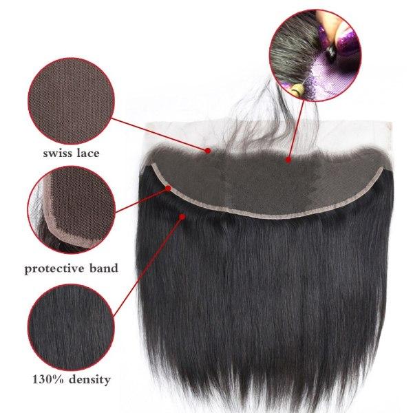 Allrun Malaysian Straight Hair Bundles With Frontal Closure 13 4 Human Hair Bundles With Closure Non 2 Allrun Malaysian Straight Hair Bundles With Frontal Closure 13*4 Human Hair Bundles With Closure Non-Remy Hair Low Ratio