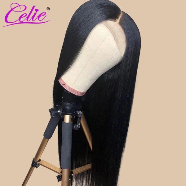 Celie Straight 6x6 Lace Closure Wig Human Hair Wigs 180 Density Brazilian Human Hair Lace Wigs 4 Celie Straight 6x6 Lace Closure Wig Human Hair Wigs 180 Density Brazilian Human Hair Lace Wigs Straight Lace Closure Wig