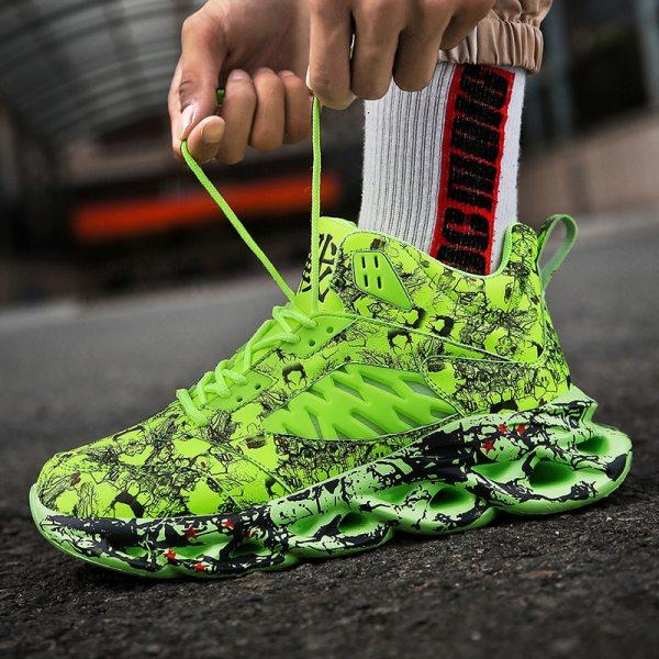 Fashion Men s Hip Hop Street Dance Shoes Graffiti High Top Chunky Sneakers Autumn Summer Casual 2 Fashion Men's Hip Hop Street Dance Shoes Graffiti High Top Chunky Sneakers Autumn Summer Casual Mesh Shoes Boys Zapatos Hombre