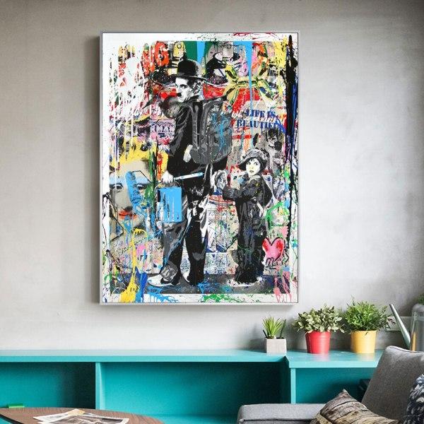 Follow Your Dreams Street Wall graffiti Art Canvas Paintings Abstract Einstein Pop Art Canvas Prints For 3 Follow Your Dreams Street Wall graffiti Art Canvas Paintings Abstract Einstein Pop Art Canvas Prints For Kids Room Cuadros Decor