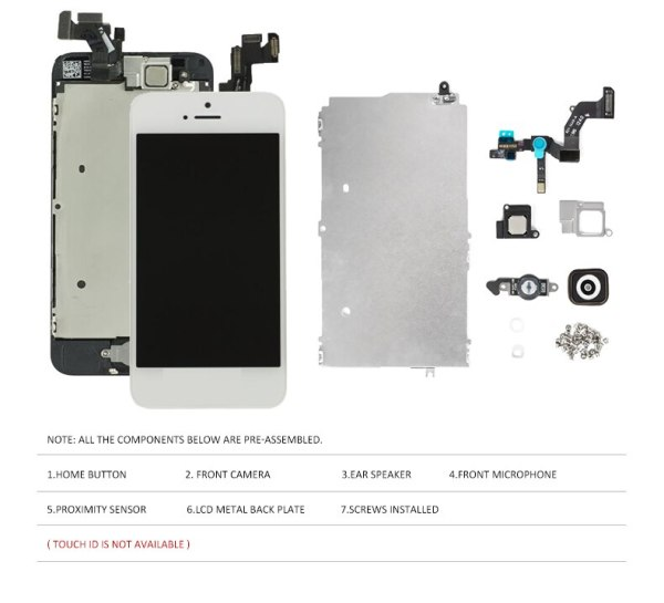 Full Set LCD Display for iPhone 5 5C 5S 5G LCD Screen Touch Digitizer Full Assembly 2 Full Set LCD Display for iPhone 5 5C 5S 5G LCD Screen Touch Digitizer Full Assembly LCD Replacement Pantalla+Home Button+Camera