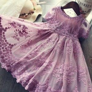 Girl Dress Kids Dresses For Girls Mesh Casual Lace Embroidery Princess Baby Girl Clothes Summer Sleeveless Innrech Market.com