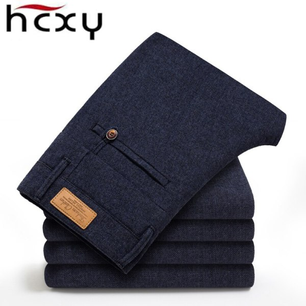 HCYX Brand 2019 four season Classic High quality Men s Casual Pants Trousers Men Casual Pants 1 HCYX Brand 2019 four season Classic High quality Men's Casual Pants Trousers Men Casual Pants Business Straight Size 38