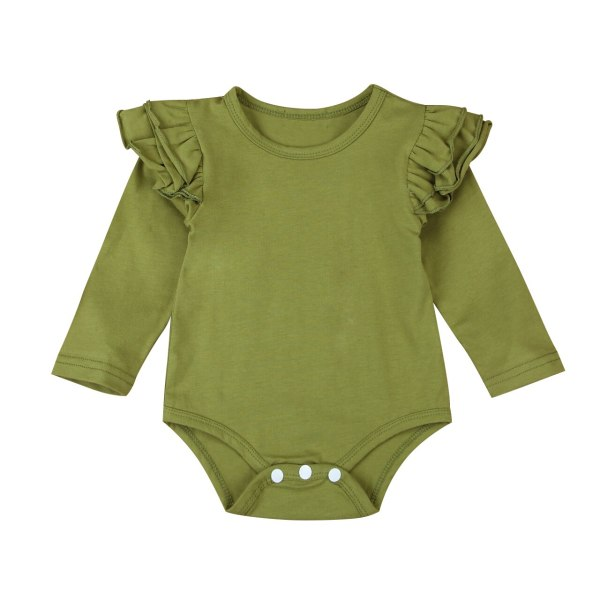 Infant Baby Girls Solid Ruffles Cotton Romper Long Sleeve Outfits Jumpsuit Clothes 1 Infant Baby Girls Solid Ruffles Cotton Romper Long Sleeve Outfits Jumpsuit Clothes