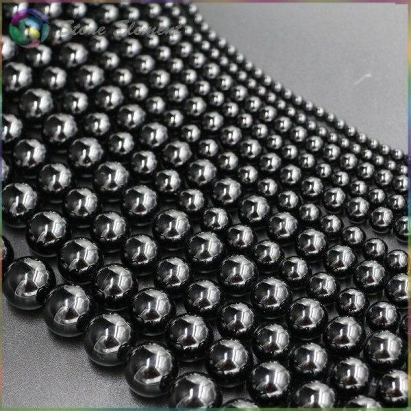 Natural Black Tourmaline Loose Round Beads 4mm 6mm 8mm 10mm 12mm 4 Natural Black Tourmaline Loose Round Beads 4mm,6mm,8mm,10mm,12mm