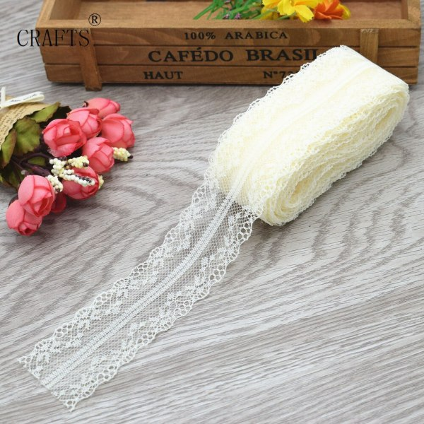 New 10 yards beautiful lace ribbon 3 8 cm wide DIY decoration accessories holiday decorations 3 New! 10 yards beautiful lace ribbon, 3.8 cm wide, DIY decoration accessories, holiday decorations