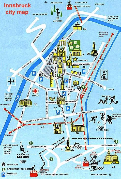 City map of Innsbruck