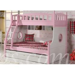 兒童皇國 實木碌架床 子母床 *4呎半/5呎 (IS4601) - 碌架床 - 雙人 碌架 子母 高架 組合床 - 田園傢俬innshops
