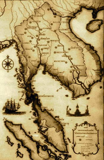 storia della Thailandia - cartina antica