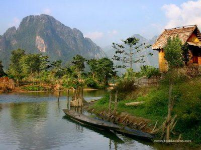 Fiume Mekong in Laos