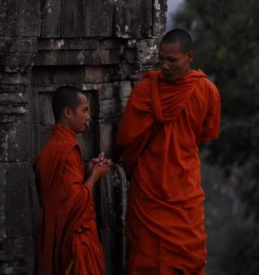 Monaci ad Angkor Wat - Cambogia
