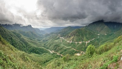 Vista eccezionale dal passo di Tram Ton in Vietnam