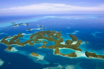 L'arcipelago di Palau dall'alto