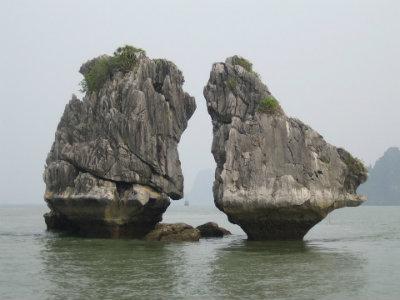 La baia di Halong in Vietnam.