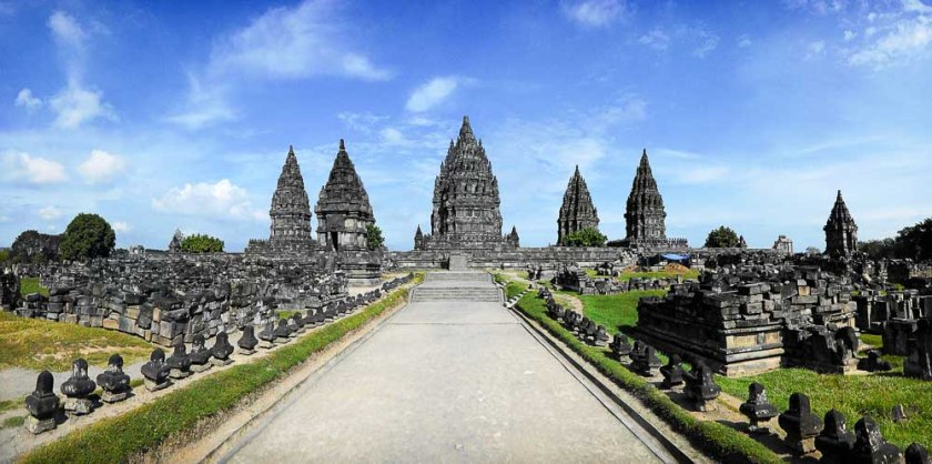 Sito archeologico di prambanan a java in Indonesia