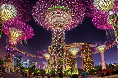 spettacolo serale gardens by the bay singapore