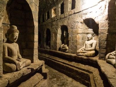 dukkanthein templi di mrauk u myanmar birmania