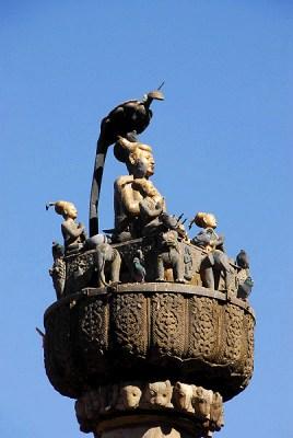 colonna del re pratap malla kathmandu