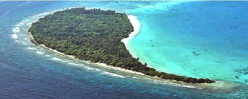 L'atollo di Shaviyani visto dall'alto, colori stupendi!