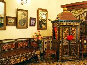 Un particolare della tipica residenza baba-nonya a Malacca