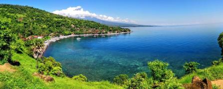 panorama di Amed a Bali