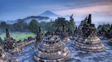 borobudur - tempio buddhista Mahayana - indonesia