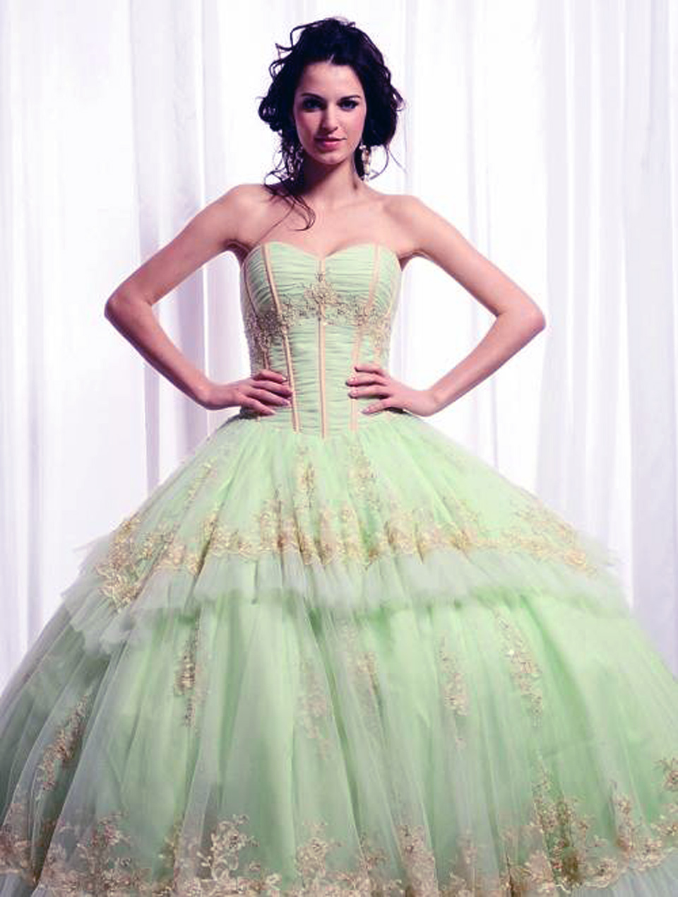Big Puffy Prom Dresses Green Pictures : Fashion Gallery