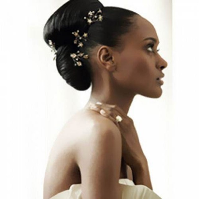 black wedding hairstyles for long hair - inofashionstyle