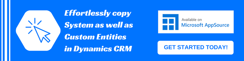 Copy System and Custom Entities in Dynamics CRM